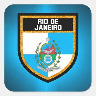 Rio de Janeiro Flag Square Sticker