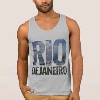 Rio de Janeiro - Guanabara Bay Big Text Tank Top