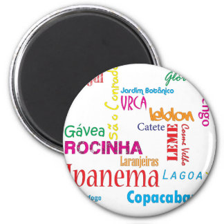 Rio de Janeiro Neighbourhoods Magnet