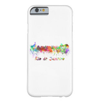 Rio de Janeiro skyline in watercolor Barely There iPhone 6 Case