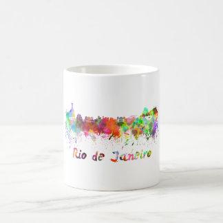 Rio de Janeiro skyline in watercolor Coffee Mug