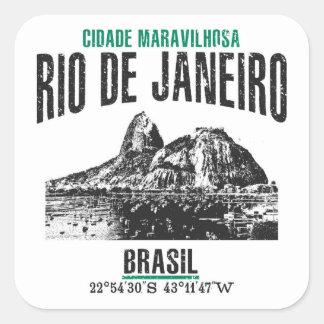 Rio de Janeiro Square Sticker