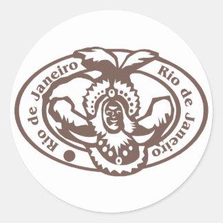 Rio de Janeiro Stamp Classic Round Sticker