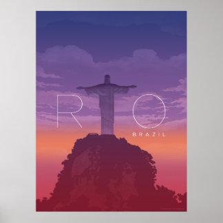 Rio de Janeiro Sunset Poster