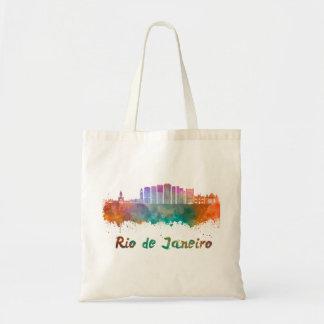 Rio de Janeiro V2 skyline in watercolor
