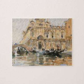 Rio dei Mendicanti, Venice by John Singer Sargent Jigsaw Puzzle