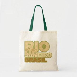 Rio font style tote bag