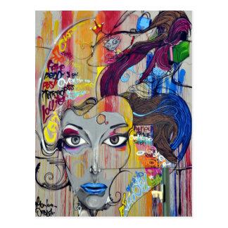 Rio Graffiti Art Face Postcard