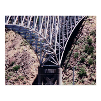 Rio Grande Bridge Closeup postcard