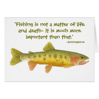 Rio Grande Cutthroat Card with Humorous quote.