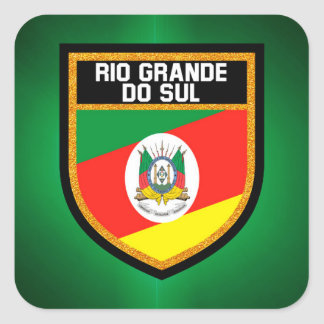 Rio Grande do Sul Flag Square Sticker