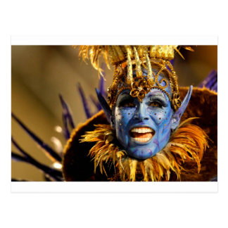 Rio Samba Blue Demon Postcard