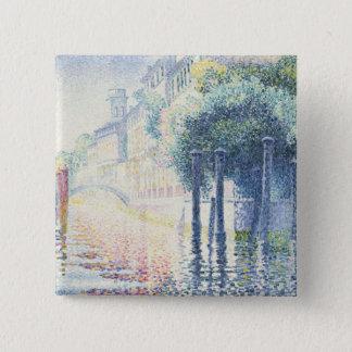 Rio San Trovaso, Venice, 1903-4 2 Inch Square Button