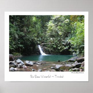 Rio Seco Waterfall ~ Trinidad ~ Travel Poster