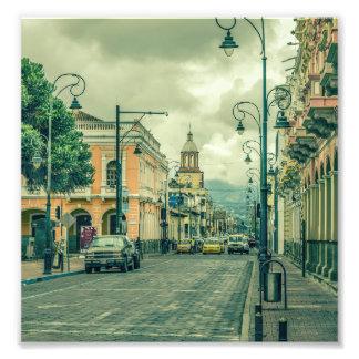 Riobamba Historic Center Urban Scene Art Photo