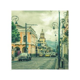 Riobamba Historic Center Urban Scene Canvas Print