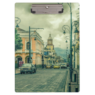 Riobamba Historic Center Urban Scene Clipboard