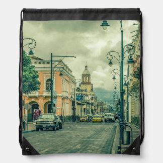 Riobamba Historic Center Urban Scene Drawstring Bag