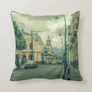 Riobamba Historic Center Urban Scene Throw Pillow