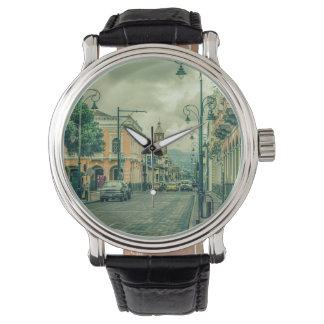 Riobamba Historic Center Urban Scene Wrist Watch