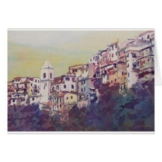 Riomaggiore Hillside Greeting Card