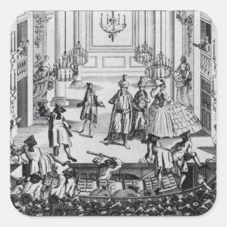 Riot at Covent Garden Theatre in 1763 Square Sticker