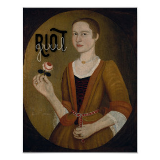 Riot Grrrl Girl Poster