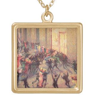 Riot in the Galleria, 1909 (oil on canvas) Pendant