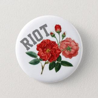 Riot w/ Roses Standard, 2¼ Inch Round Button