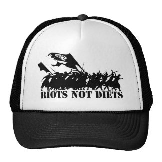 RIOTS NOT DIETS CROWD TRUCKER HAT