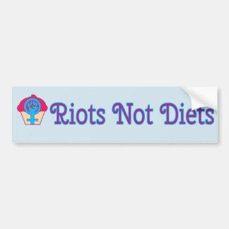 Riots, Not Diets, Feminist Bumper Sticker
