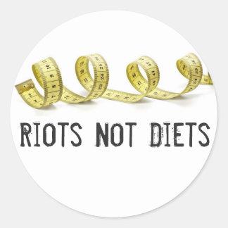 Riots Not Diets Sticker