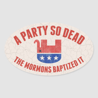 RIP-GOP OVAL STICKER