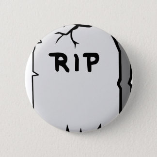 Rip Head stone 2 Inch Round Button