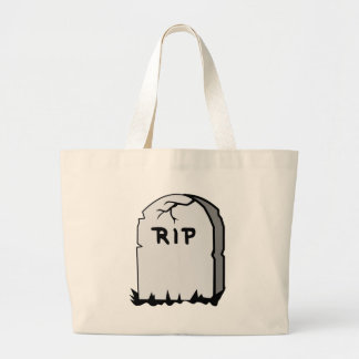 Rip Head stone Large Tote Bag