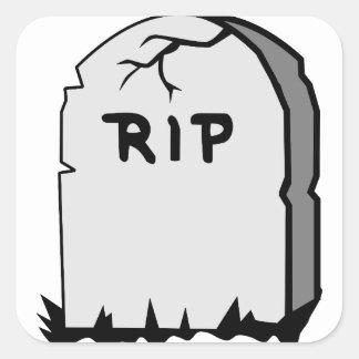 Rip Head stone Square Sticker
