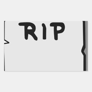 Rip Head stone Sticker