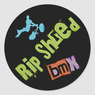 Rip Shred BMX Classic Round Sticker