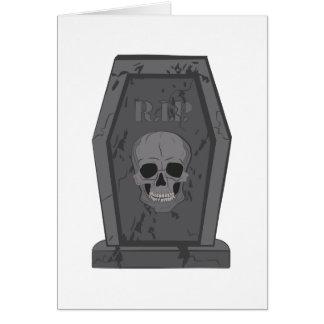 RIP Tombstone Card