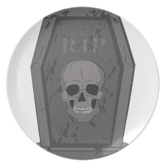 RIP Tombstone Dinner Plates