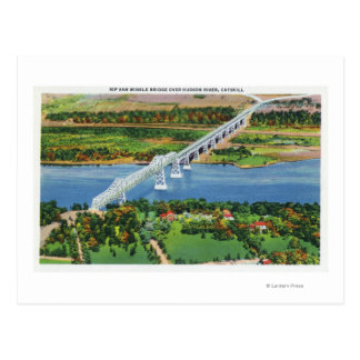 Rip Van Winkle Bridge over Hudson River Postcard