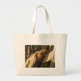 Ripe and ready to harvest ear of corn large tote bag
