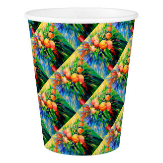 Ripe apples paper cup