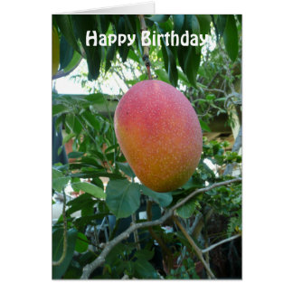 Ripe Mango Fruit Personalized Birthday Template
