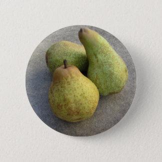 Ripe pears 2 inch round button