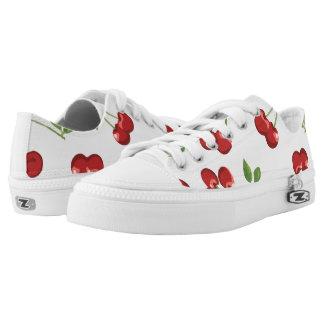 Ripe Red Cherries Low-Top Sneakers