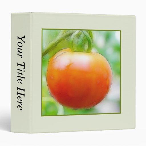 Ripe Red Heirloom Tomato Vinyl Binders