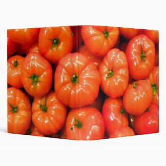 Ripe Red Shiny Tomatoes Vinyl Binders