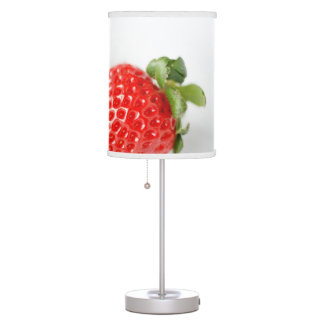 Ripe Red Strawberries Table Lamp