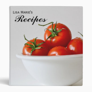 Ripe Red Tomato Personalized Recipe Binder